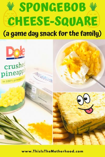 Pineapple Spongebob CheeseSquare is a game day snack for the family (plus a new movie trailer is here!)